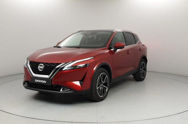 Nowy Nissan Qashqai - NBV - czerwony Fuji Sunset - Nissan Odyssey